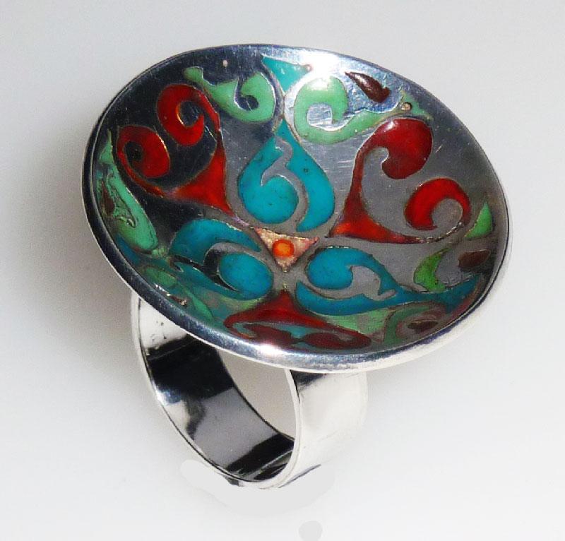 Zilveren ring met uv-hars