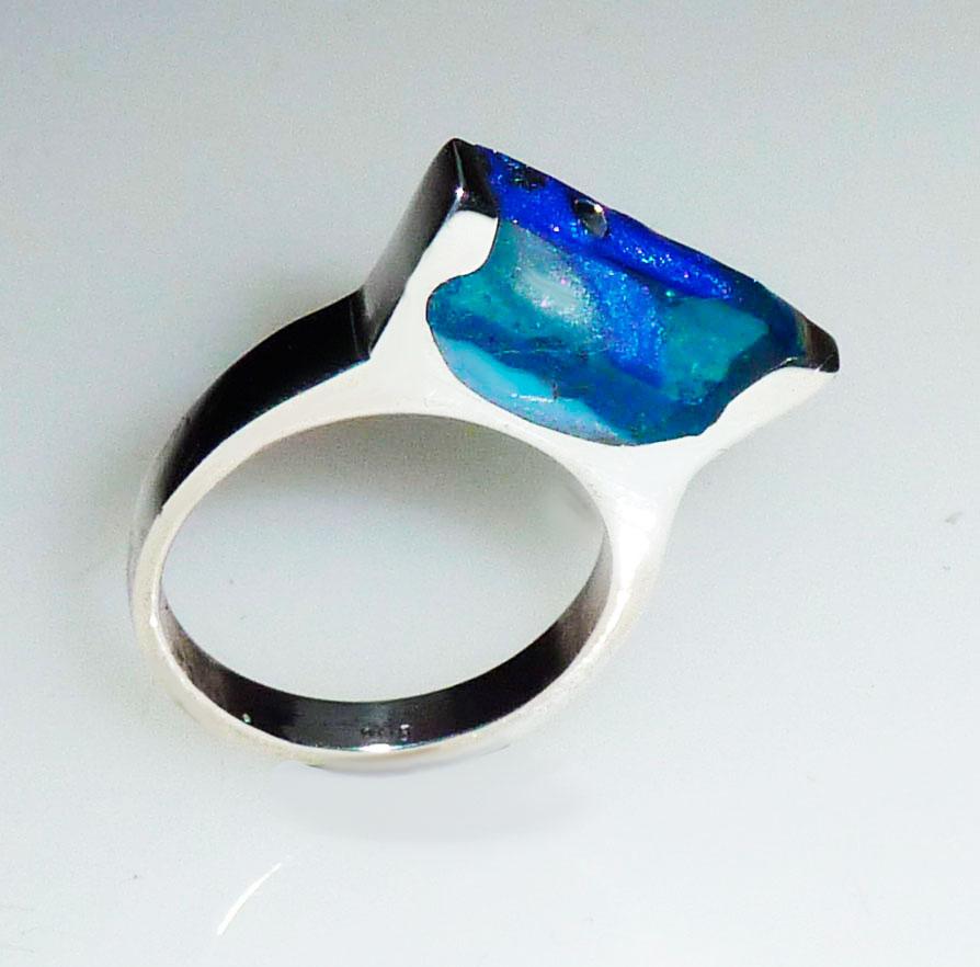 Ring van zilver met uv-hars