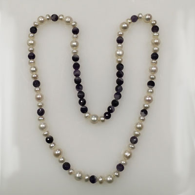 Collier parel/amethyst