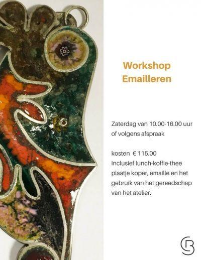 workshop emailleren Caty Blom goudsmid vlaardingen